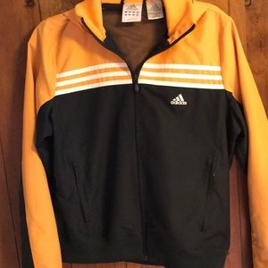 Adidas Gold and Black Rain Coat with Hood